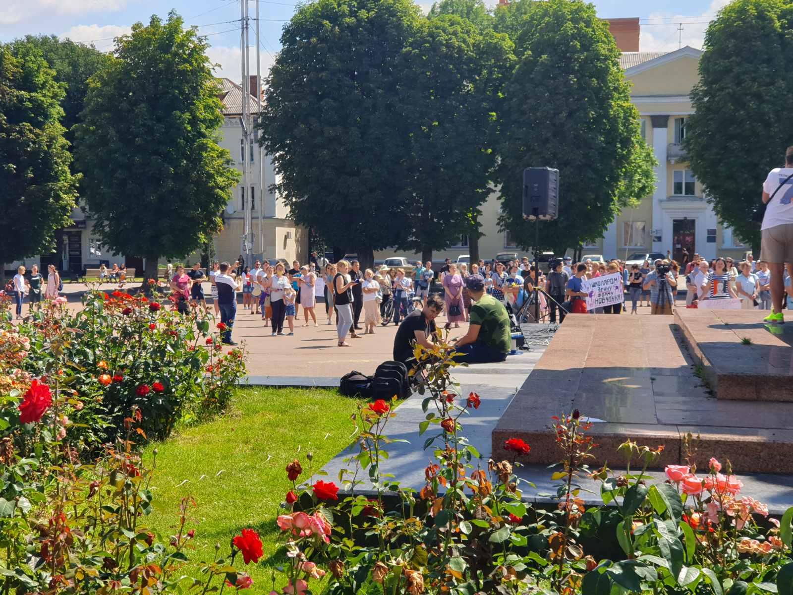 🎥ВІДЕО з Всеукраїнської Акції Непокори проти дистанційного навчання — 22 липня, середа